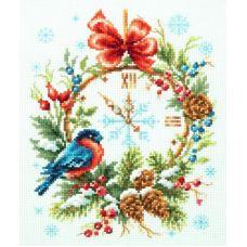 Набор для вышивания крестом Время рождества, 17x22, Чудесная игла