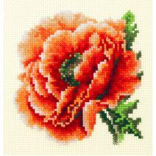 Набор для вышивания крестом Мак, 11x11, Чудесная игла