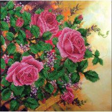 Вышивка бисером на шелке Вьющиеся розы, 33x33, FeDi