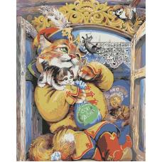 Живопись по номерам Котик, 40x50, Hobruk, HS2070