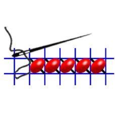 Рисунок-схема на водорастворимом флизелине КФО-4008, 20x29 см, Каролинка