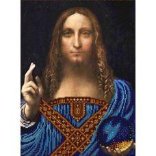 Ткань для вышивания бисером Спаситель мира, 29x39, Конек