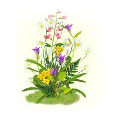 Вышивка лентами Цветы полевые, 28x34 (15x17), Матренин посад