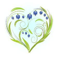 Вышивка лентами Колокольчики-сердце, 28x34 (15x15), Матренин посад