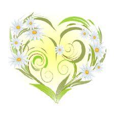 Вышивка лентами Ромашки-сердце, 28x34 (14x15), Матренин посад