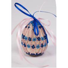 Набор для бисероплетения Яйцо Пасхальное Цветы Любелии, 4,6х6,2, Матренин посад
