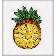 Набор для вышивания крестом на водорастворимой основе Ананас, 4x6, Овен