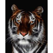 Живопись на холсте Тигр, 40x50, Paintboy, GX4788