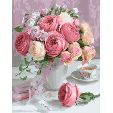Живопись на холсте Чайные розы, 40x50, Paintboy, GX22794