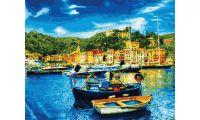 Живопись на холсте Средиземноморский причал, 40x50, Paintboy, GX31066