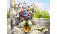 Живопись на холсте Букет полевых цветов, 40x50, Paintboy, GX33993