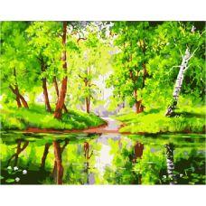 Живопись по номерам Лесное зеркало, 40x50, Paintboy, GX7198