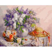 Живопись по номерам Натюрморт с сиренью, 40x50, Paintboy, GX24461
