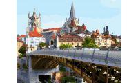 Живопись на холсте Железный мост в Лозанне, 40x50, Paintboy, GX25354