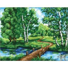 Живопись по номерам Деревянный мостик, 40x50, Paintboy, GX25792
