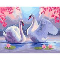 Живопись на холсте Лебединая верность, 40x50, Paintboy, GX26882