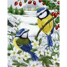 Живопись по номерам Зимние синички, 40x50, Paintboy, GX27890