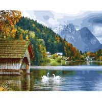 Живопись по номерам Озеро в горах, 40x50, Paintboy, GX27951