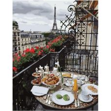 Живопись на холсте Утро в Париже, 40x50, Paintboy, GX28602