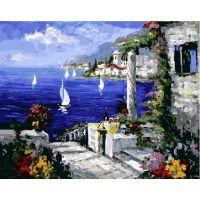 Живопись на холсте Свидание на берегу, 40x50, Paintboy, GX3615