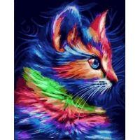 Живопись по номерам Радужный котенок, 40x50, Paintboy, GX36337
