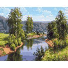 Живопись на холсте Проточная река, 40x50, Paintboy, PK59028