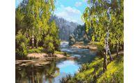 Живопись на холсте У реки, 40x50, Paintboy, PK59030