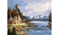 Живопись на холсте Домик в горах, 40x50, Paintboy, GX23306
