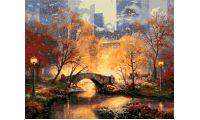 Живопись на холсте Центральный парк осенью, 40x50, Paintboy, GX3478