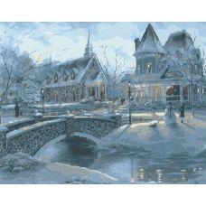 Живопись по номерам Зимний вечер, 40x50, Paintboy, GX6376