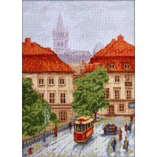 Набор для вышивания крестом Старый трамвай, 20x27, Палитра