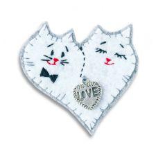 Набор для шитья Брошка Коты, 7x7 ,Перловка