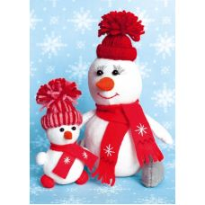 Набор для шитья Снегомама + Снегодочка, 16,5 ,Перловка
