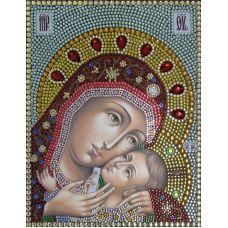Вышивка термостразами Корсунская Богородица, Преобрана