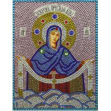 Алмазная вышивка термостразами Покров Пресвятой Богородицы, Преобрана