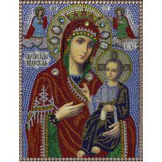 Алмазная вышивка термостразами Иверская Богородица, Преобрана