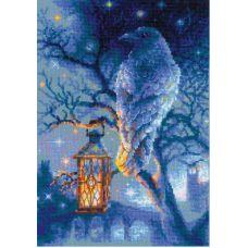 Набор для вышивания крестом Мудрый ворон, 21x30, Риолис, Сотвори сама