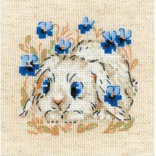 Набор для вышивания крестом Маленький зайка, 13x13, Риолис, Сотвори сама