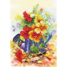 Набор для вышивания Садовая лейка, частичная вышивка, 21x30, Риолис, Сотвори сама