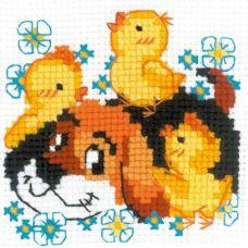 Набор для вышивания крестом Дружок, 10x10, Риолис, Сотвори сама