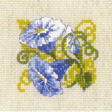 Набор для вышивания крестом Вьюнок, 13x13, Риолис, Сотвори сама