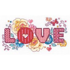 Набор для вышивания крестом Love, 18x10, Риолис, Сотвори сама