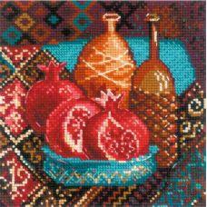 Набор для вышивания крестом Гранаты, 20x20, Риолис, Сотвори сама