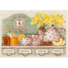 Набор для вышивания крестом Tea Time, 30x21, Риолис, Сотвори сама