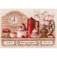 Набор для вышивания крестом Coffee Time, 30x21, Риолис, Сотвори сама