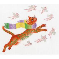 Набор для вышивания крестом Охота на розовых мышей, 24,6x28,3, Золотое руно