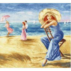 Набор для вышивания крестом Песчаные дюны, 37,7x35,1, Золотое руно