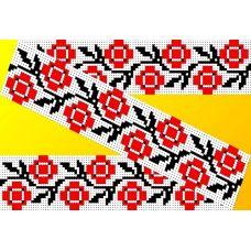 Декор. Рисунок на водорастворимом флизелине КФО-004, 5x40 см, Каролинка