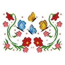 Рисунок-схема на водорастворимом флизелине КФО-4005, 19x27,7 см, Каролинка
