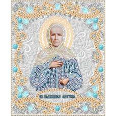 Ткань для вышивания бисером Святая Матрона Московская, 15x18, Конек